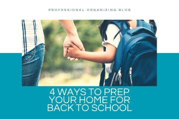 prep your home for back to school